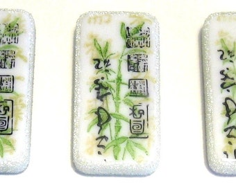 Asian Bamboo domino magnet set