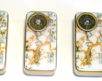 Asian Coins domino magnet set