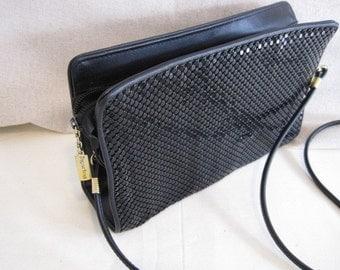 vintage Whiting and Davis Black Mesh Handbag