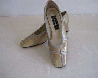 vintage Gold and Silver Patchwork leather Pumps by J. Renee  size 7 M