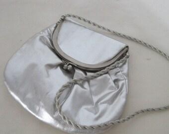 Vintage HL USA - Silver Lame Evening Bag