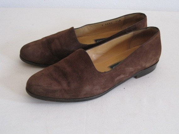 vintage Brown Suede Flats by Cole Haan  size 7 1/2 Medium
