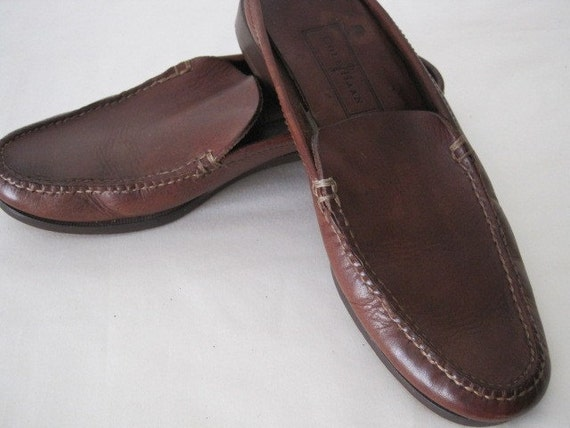 vintage Dark Saddle Tan Flats by Cole Haan  size 7 narrow