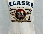 20% OFF Alaska Cool Pepper Grey Fringe Tank Tee