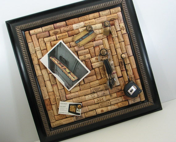how to make a wine cork bulletin board