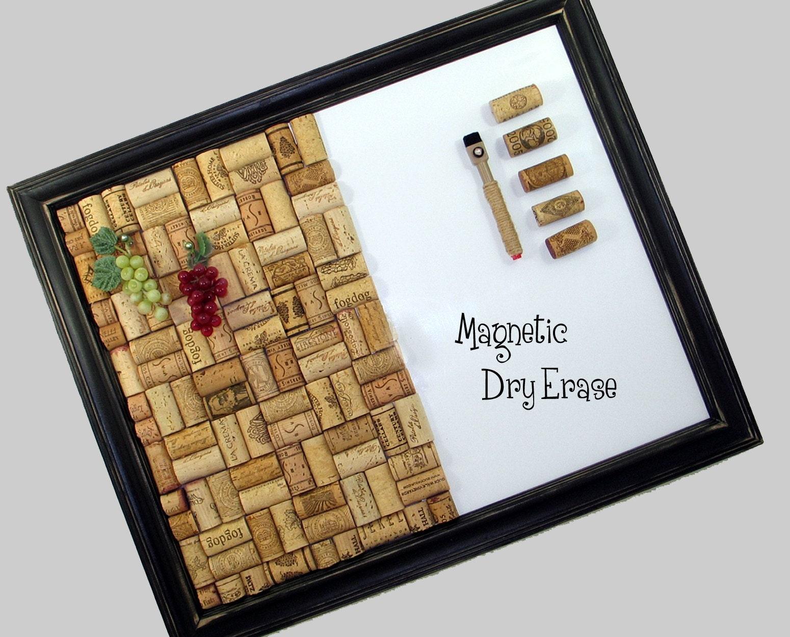 Dry Erase Calendar Target : Half n wine cork dry erase bulletin board set