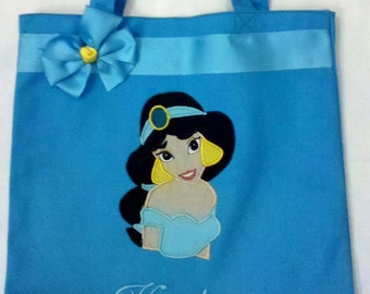 Personalized Tote Bag, Personalized Tote, Jasmine Tote Bag, Jasmine Tote, Jazmine Gift, Personalized Jasmine, Personalized Princess