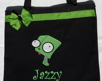 Personalized Tote Bag, Personalized Tote, Invader zim, Tote Bag, Gir Tote, Invader Zim Gift, Personalized Gir