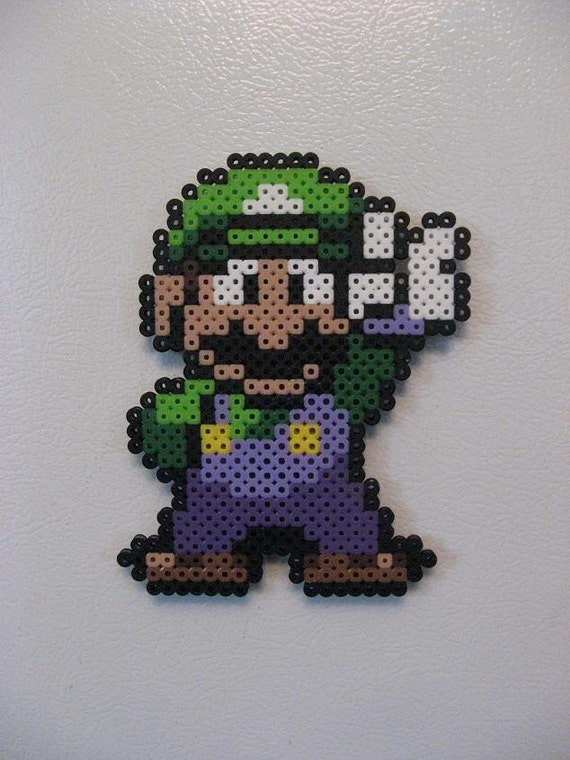 Items Similar To Luigi Perler Bead Magnet Nintendo On Etsy
