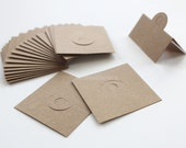 100 pcs of Blank(No Printed) Design Brown Craft Card Tag for Accessories and Jewelry for DIY