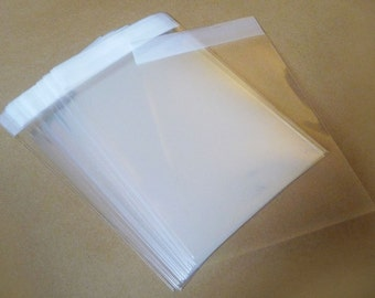 50pc Clear Self Sealing Cello Poly Bag Envelope 3 1/8 inch X 4 3/4 inch (80mm X 120mm) and 1 5/8 inch (flap)