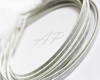 5pcs..3mm Satin Ribbon Wrapped Metal(Steel) Headbands in Cream(Ivory) for Wedding and any occasions.