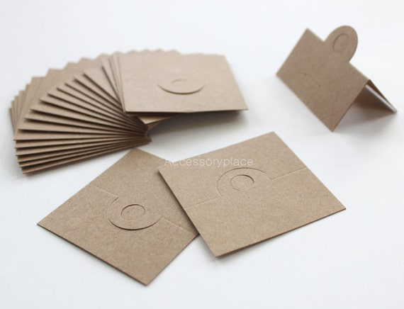 50 pcs of Blank(No Printed) Design Brown Kraft  Paper Card  for Accessories and Jewelry for DIY