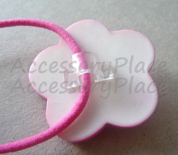 24pcs..3mm Plastic Ponytail Holder Base for DIY in Black and Clear