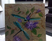 Dragonfly and Floral Trivet