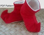 Elf Baby Shoe Pattern - PDF Download
