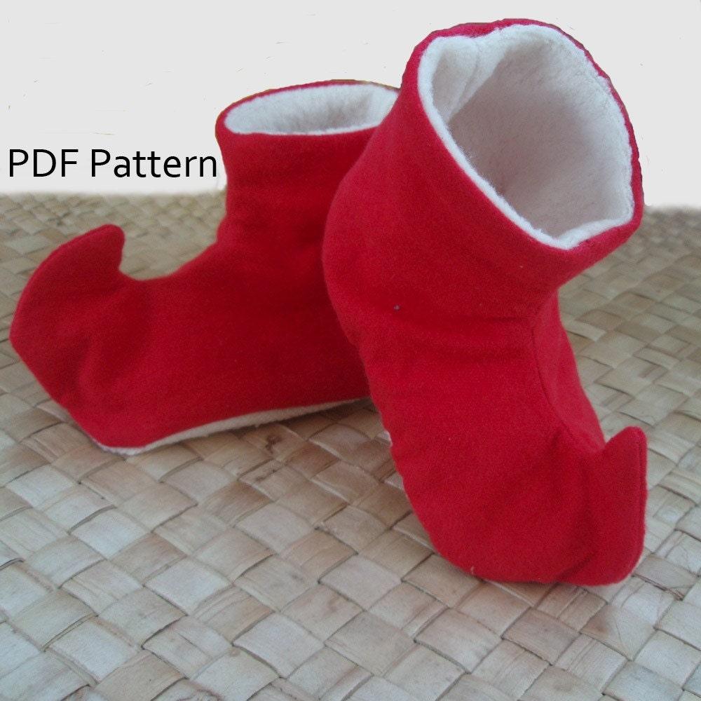 toddler elf shoes pattern