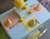 PLACE MAT--made to match any birthday banner or party hat--reserved for lemoncandy