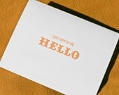 I Just Came To Say Hello - Greeting Card Yellow