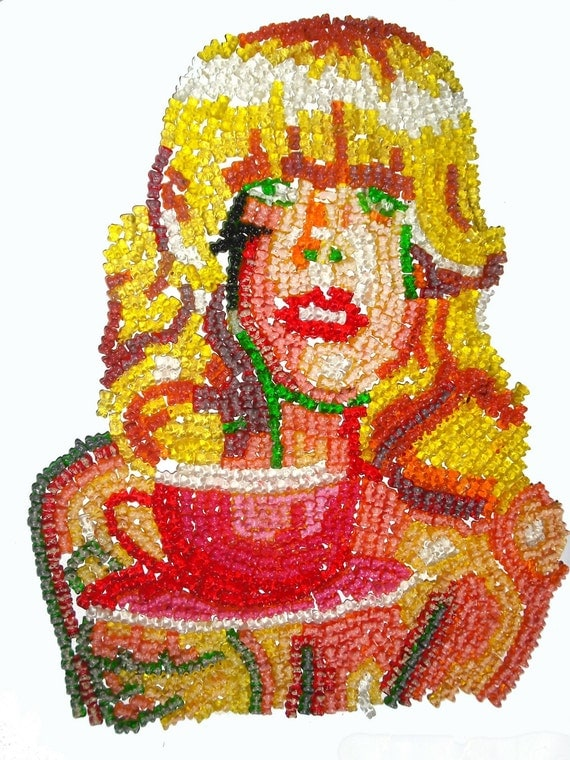 Your Portrait made of Gummi Bears - As Seen In Urban Outfitters