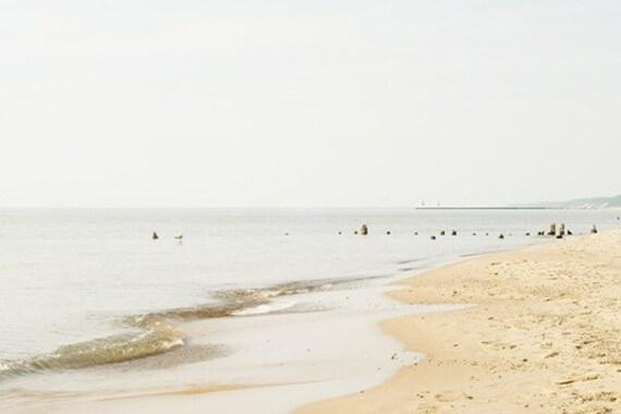 Beach photograpy beach photograph 8x12 nautical wall art summer landscape seashore fine art ocean print lake michigan grey gold