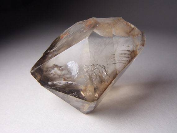 Smokey Quartz Double Terminated 'Diamond' Formation.  AA Grade, Excellent Clarity.  Crystal Healing / Mineral Specimen )0(