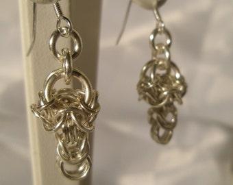 Dropknot Earrings - Sterling Silver