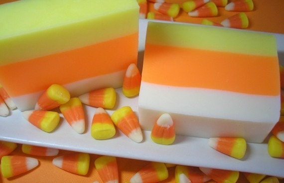 Candy Corn Soap - Soap for Kids,  Fall Soap,  Holiday Soap, Autumn Soap, Soap for Children, Halloween Soap, Candy Soap, Glycerin Soap