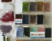 Hugh Lot  Seeds and Bugle Beads 30 plus colors and sizes