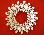 Skull Wreath - White
