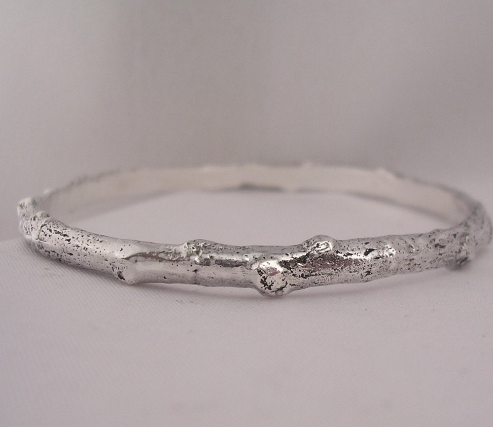 Plus size bangle bracelet twig branch bracelet by for Plus size jewelry bracelets