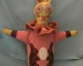 Prim, a bunny handpuppet