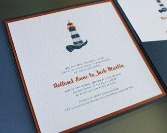 Harbour Town Lighthouse Wedding Invitation - Design Fee