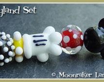 Happyland Lampwork Bead Set