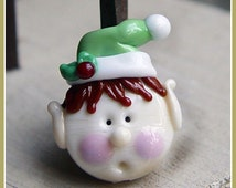 Santa's Elf Holiday Christmas Lampwork Bead