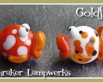 Goldfish Fish Lampwork Bead