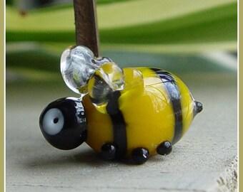 Bumblebee Lampwork Bead