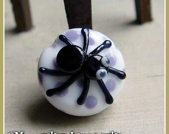 Black Widow Spider Halloween Lampwork Bead