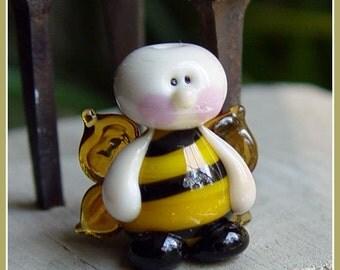 Bee Fairy Lampwork Bead