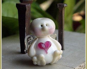 Love Cupid Valentine Fairy Lampwork Bead