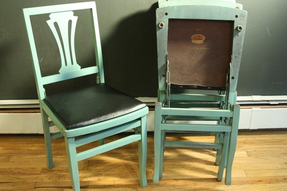 1930s Art Deco Folding Chairs Solid Kumfort By Sevenbc On Etsy