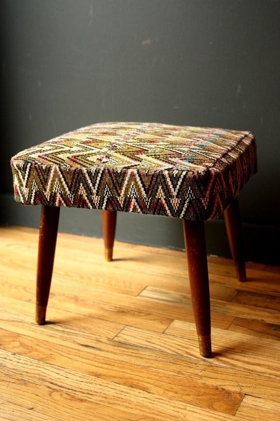 Vintage Footstool Ottoman