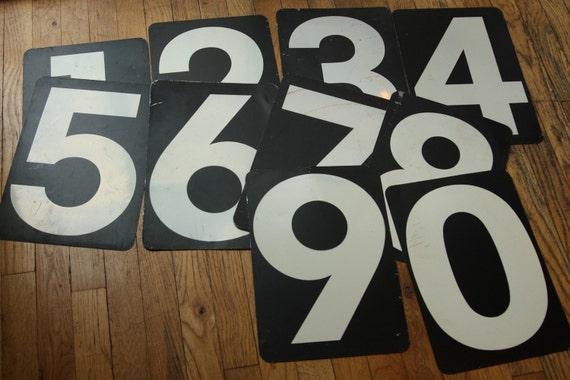 Vintage Gas Station Numbers 0 -9