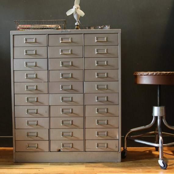 reserved Vintage Industrial Metal Cabinet  - Steelmaster - 30 Drawer
