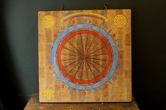 Vintage Deco Game Board / Dart Board