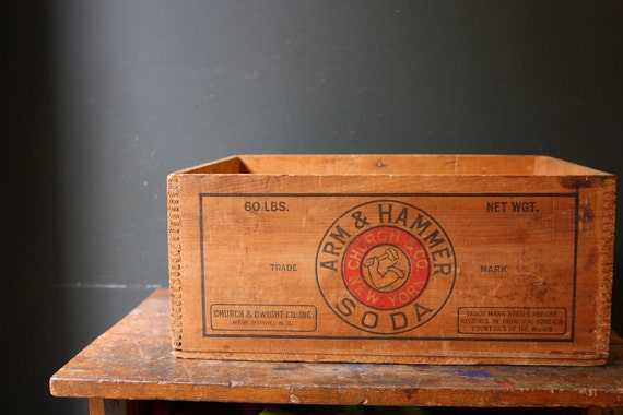 Wooden Crate / Wood Crate / Arm and Hammer