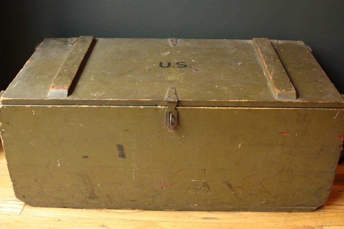 WW2 US Army Footlocker by sevenbc on Etsy