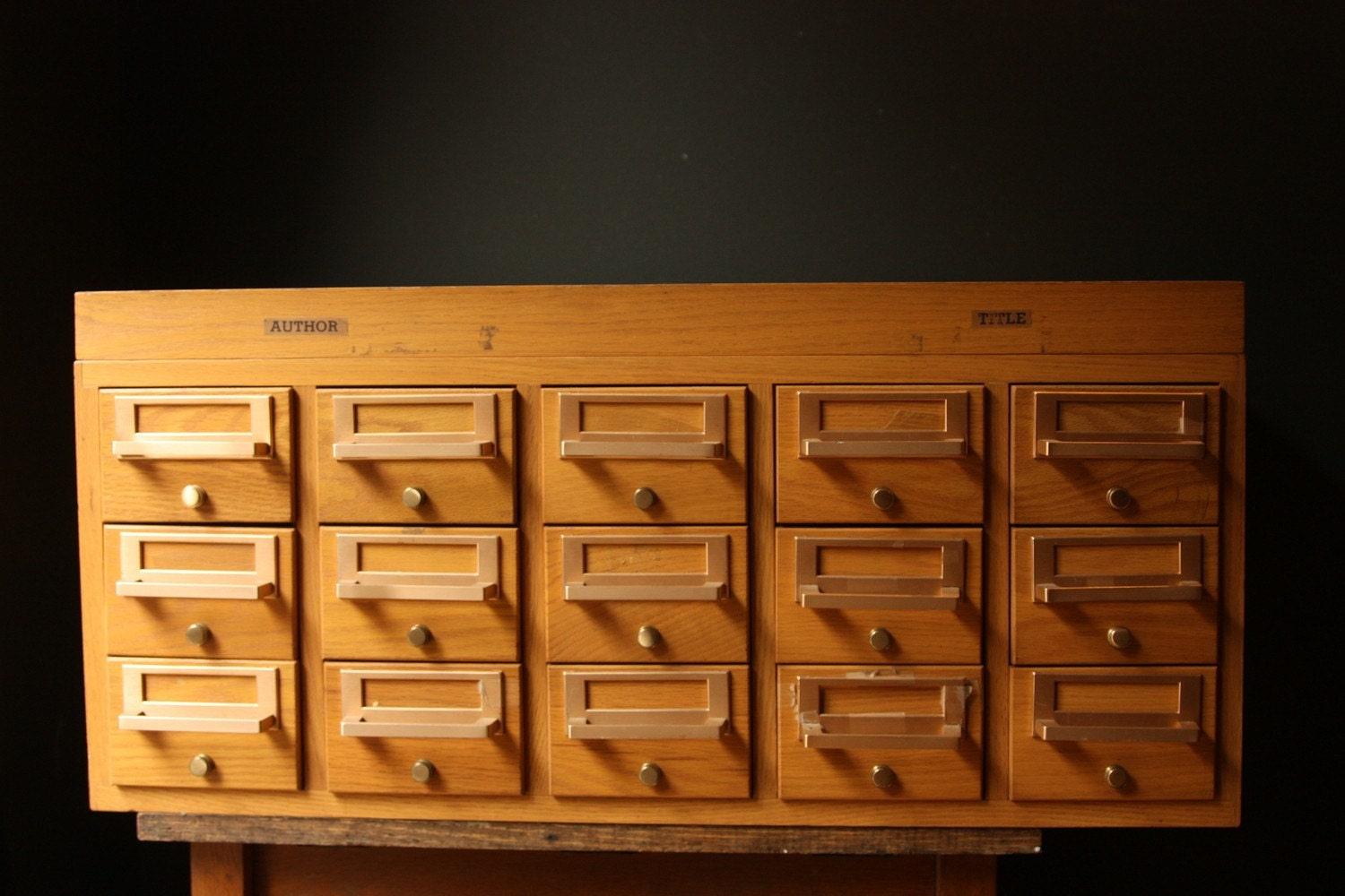 Vintage Multi Drawer Library Card Cabinet