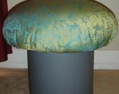 SUPER SALE Magic Mushroom Stool Vintage Retro Mid Century Inspired OOAK Green Blue Grey