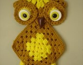Awesome Vintage Retro 70s Owl Pot Holder Wall Hanging Kitch Kitchen Owls